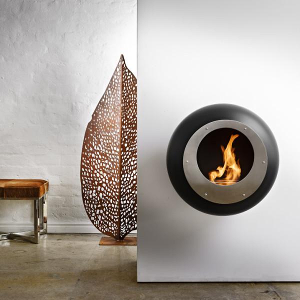 cocoon wall mounted bioethanol fireplace