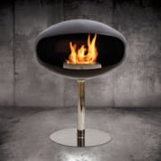 Cocon pedestal black bioethanol fireplace
