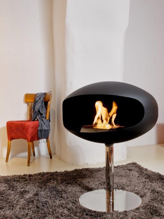 cocoon pedestal freestanding fireplaces beauty fires. Black Bedroom Furniture Sets. Home Design Ideas
