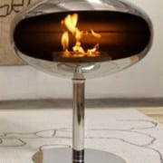 cocoon pedestal ssteel bioethanol fireplace 1