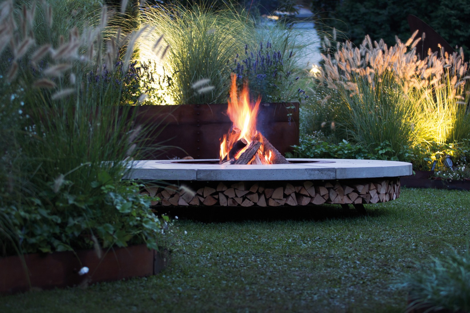 Ercole outdoor wood burning fire pit