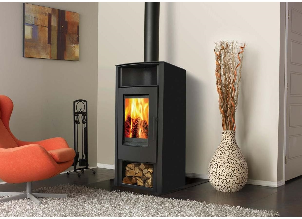The Aries Slow Combustion Wood Fireplace is elegant and modern with a hint of vintage - See more details on this here.