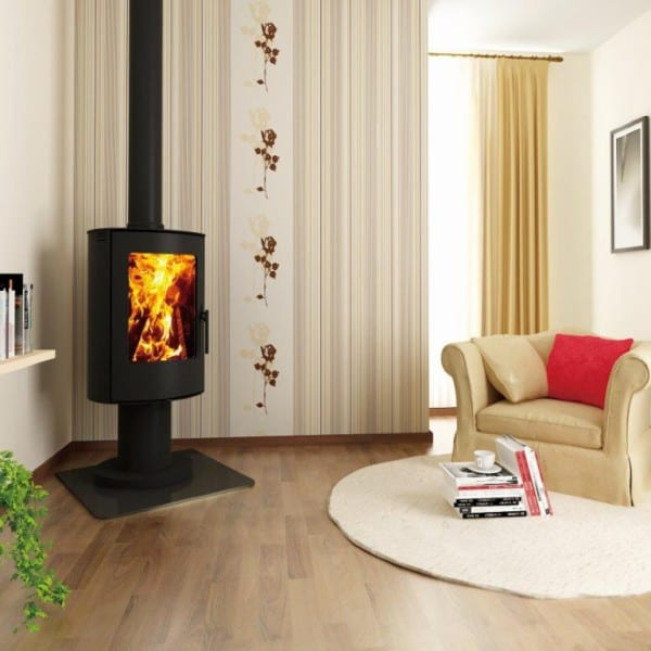Canature Cosmo Pedestal slow combustion wood fireplace