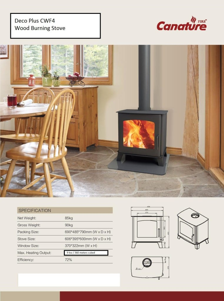 Deco Plus slow combustion wood fireplace