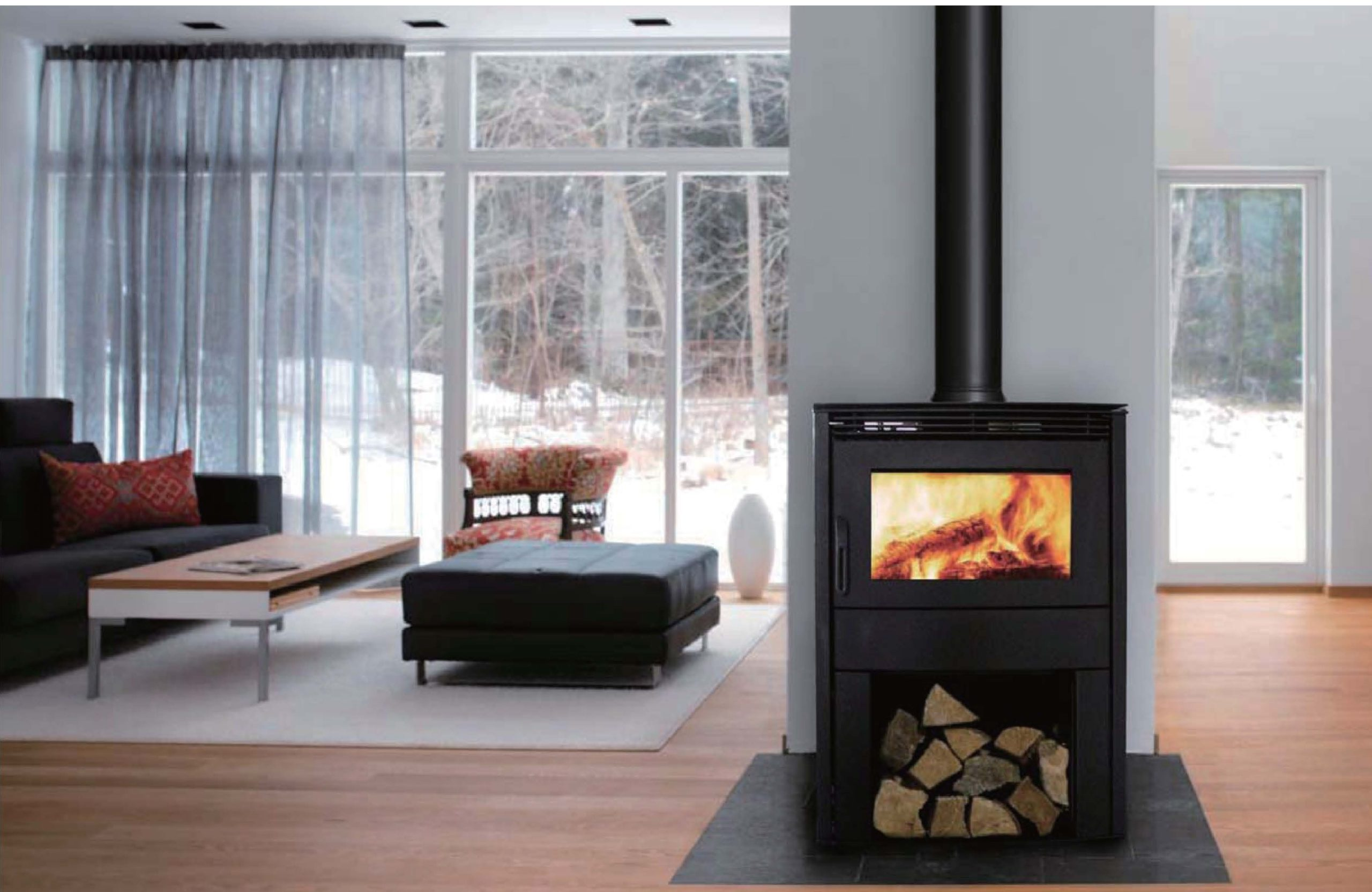 Gemini closed wood burning fireplace - Beauty Fires