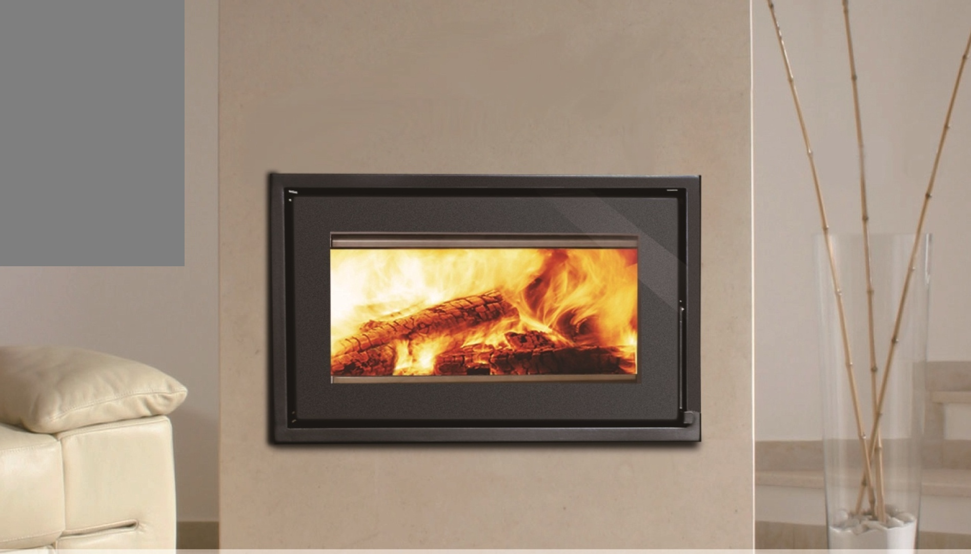 Taurus Closed Wood Burning Fireplace | Beauty Fires
