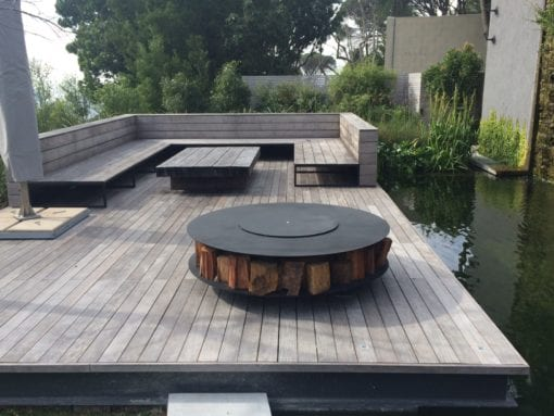 Discus wood burning outdoor fire pit