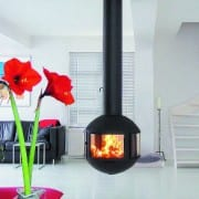 agorafocus 850 suspended on fireplace