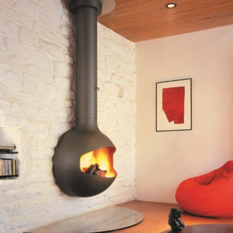 Emifocus wood fireplace