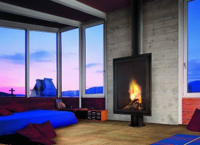 eurofocus freestanding wood burning fireplace