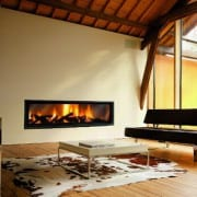 gigafocus built in wood fireplace