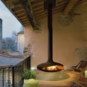 Gyrofocus suspended fireplace outdoor