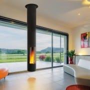 Slimfocus suspended fireplace