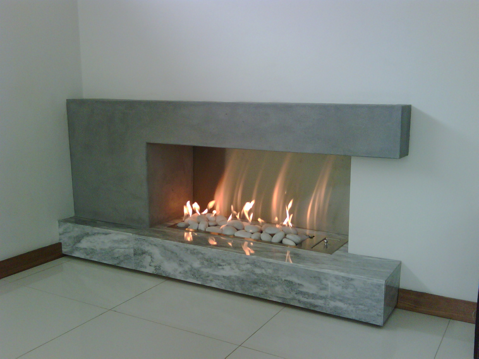 vent free gas fireplace with pebbles beauty fires