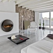 Dot flatback wall mounted bioethanol fireplace