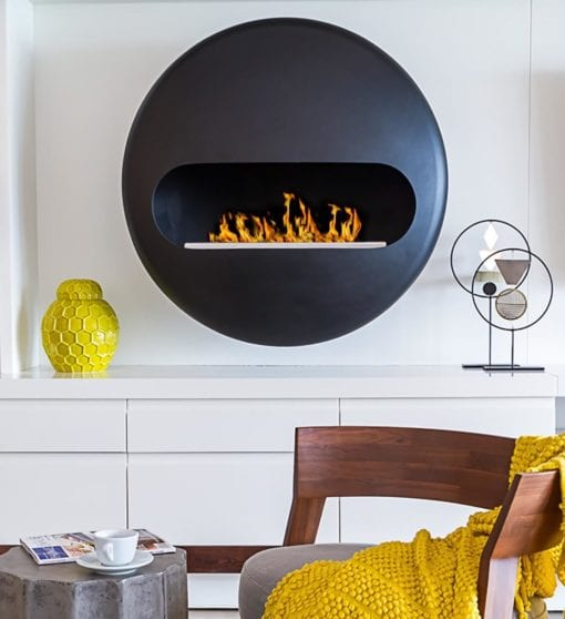 Dot wall mounted fireplace