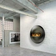 Dot wall mounted bioethanol fireplace