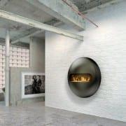 Dot wall mounted bioethanol fireplace
