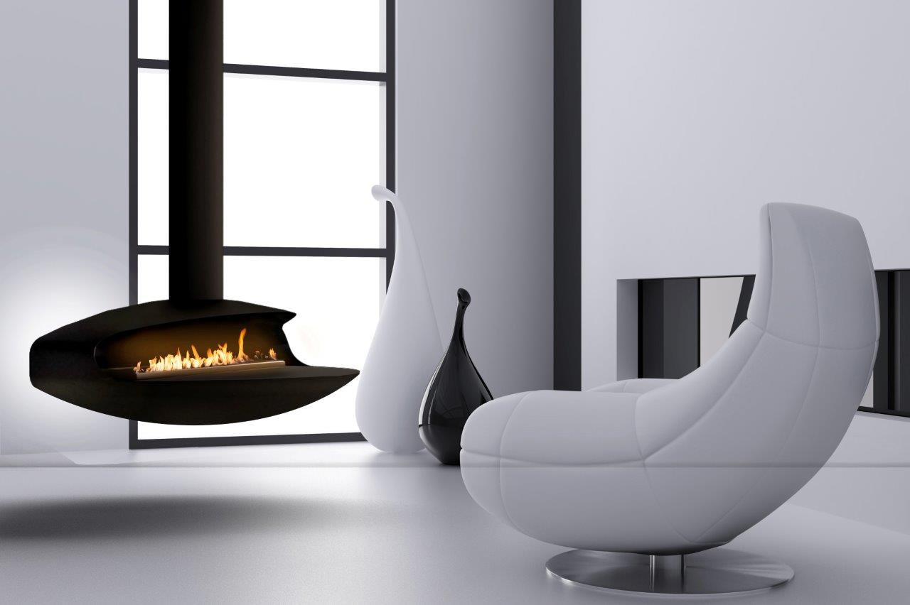 float suspended bioethanol fireplace. Black Bedroom Furniture Sets. Home Design Ideas