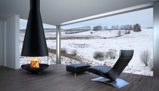 Silo wood burning fireplace
