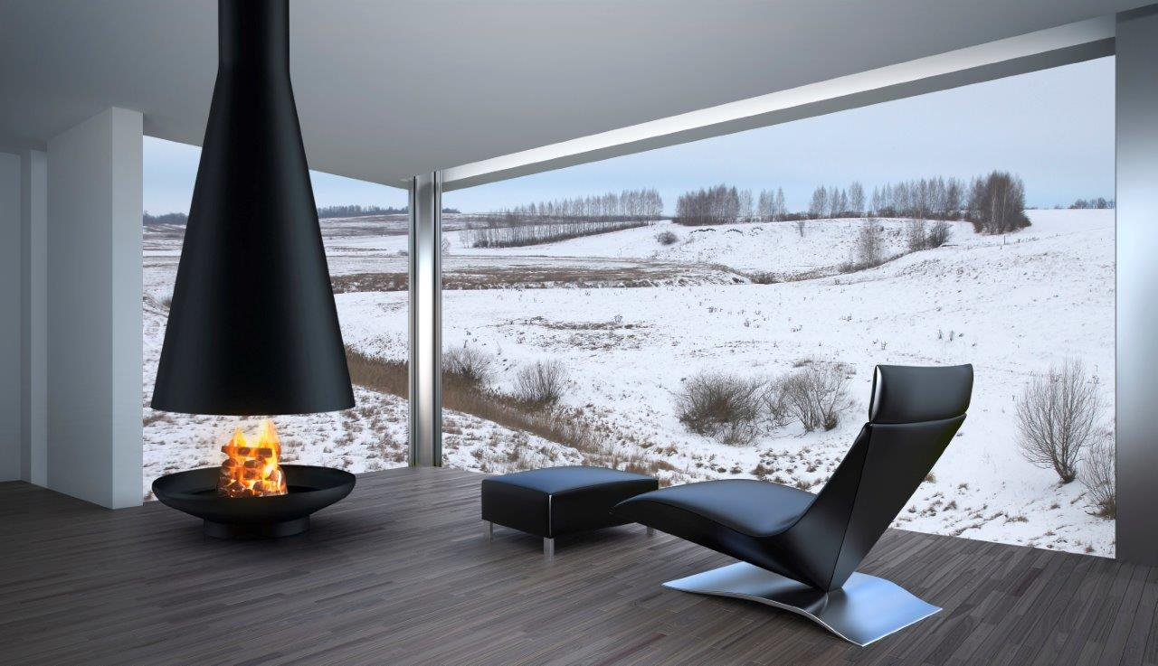 Silo Suspended Wood Burning Fireplace Beauty Fires