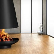 Silo wood burning fireplace