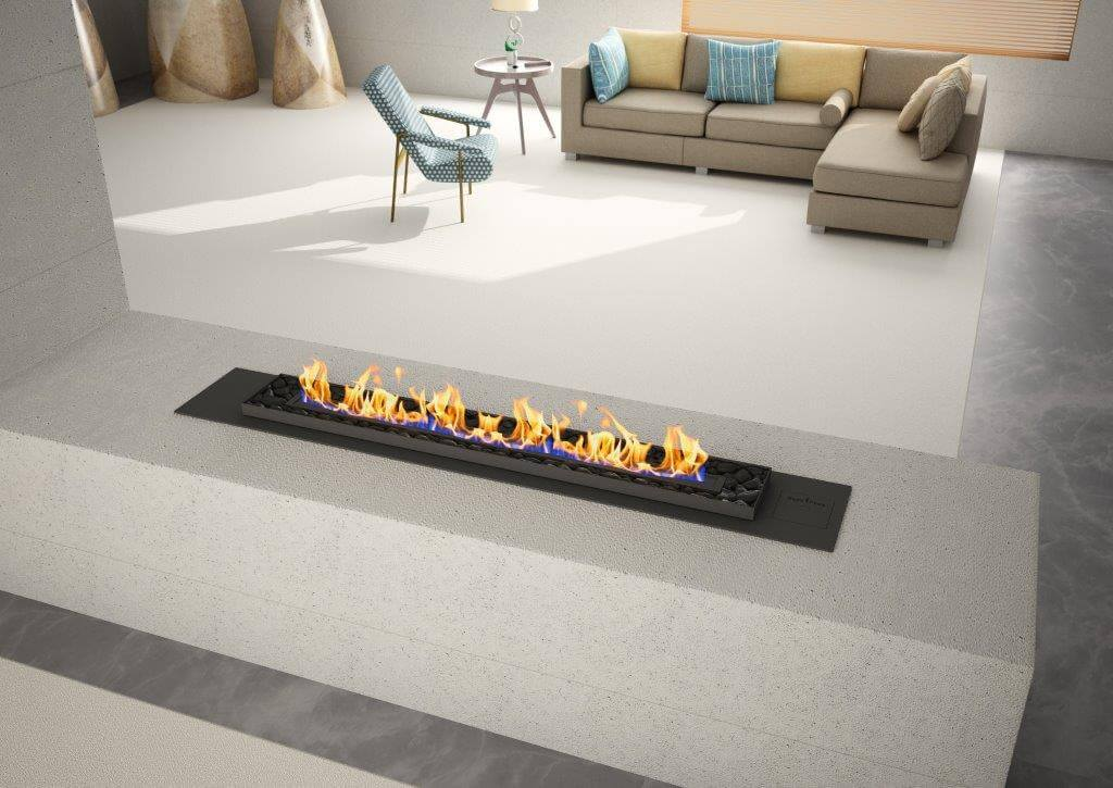 Vent Free Gas Fireplace With Pebbles Indoor Fireplace