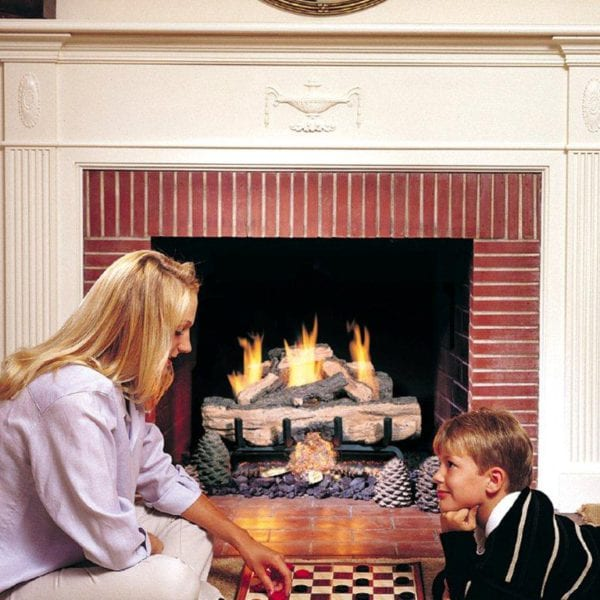 vent free gas fireplace with logs