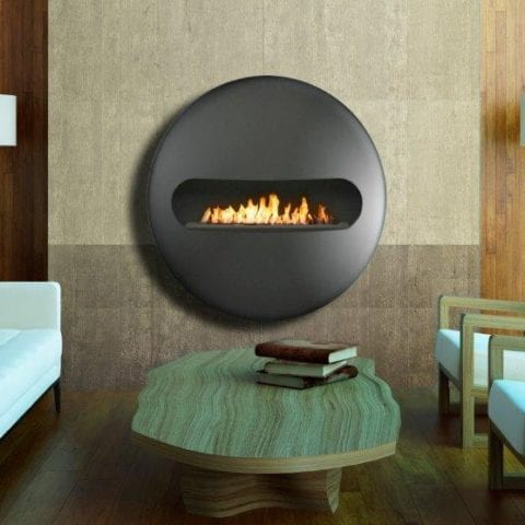 Dot flatback biofuel fireplace
