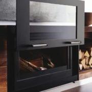Balance closed combustion wood fireplace