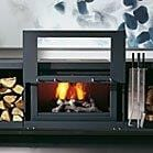 Balance closed combustion wood fireplace