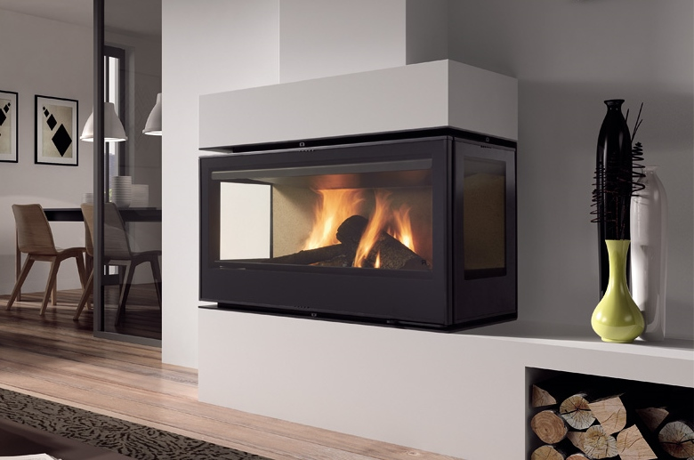 Rocal Graffiti LD&TC closed combustion fireplace insert