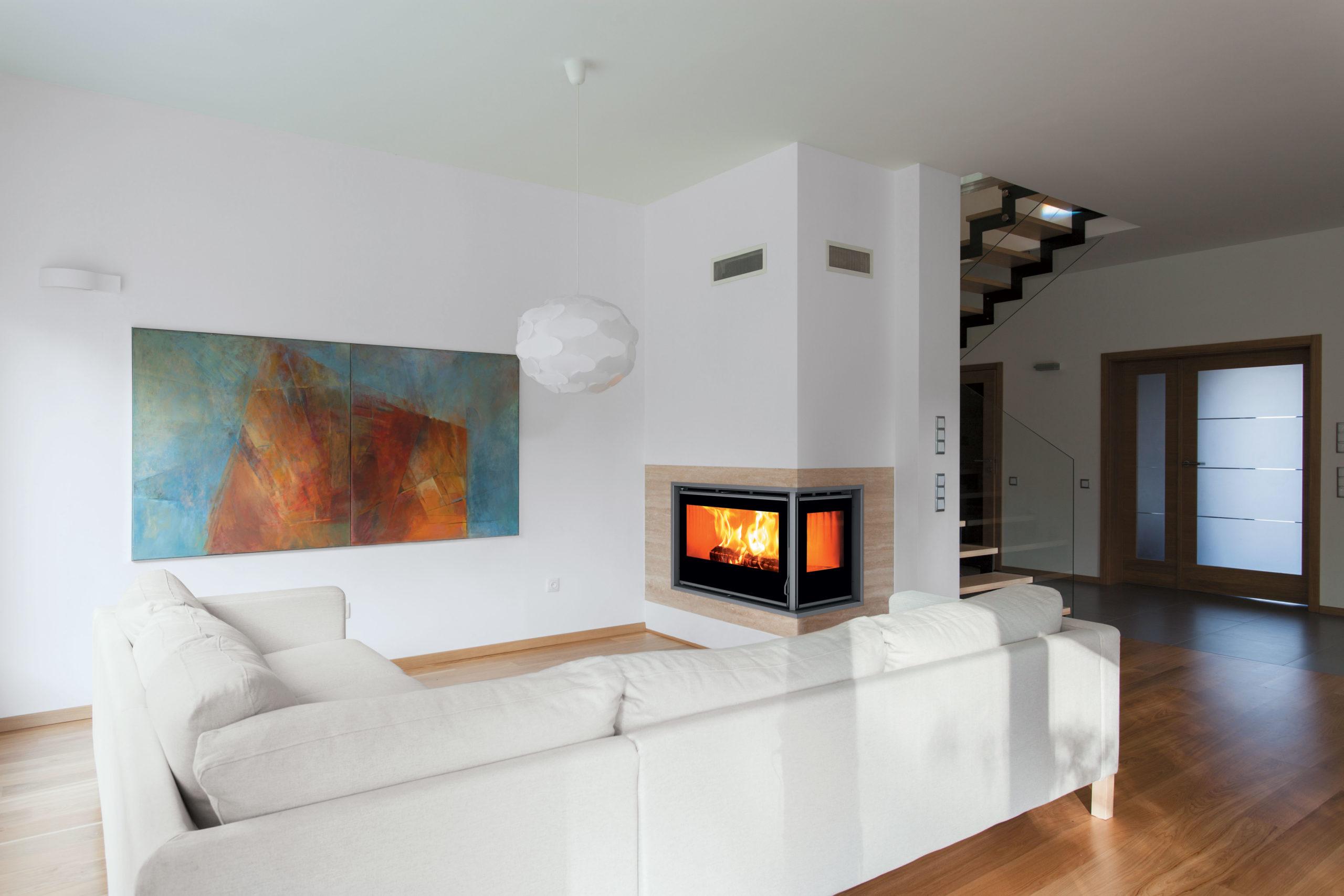 Arredamento soggiorno moderno con camino gallery of for Salotto con camino arredamento