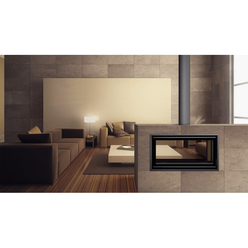 carbel c collection double sided closed combustion fireplace. Black Bedroom Furniture Sets. Home Design Ideas