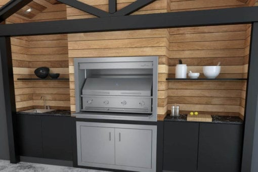 Gas Braai - 1200 Braai body with 1170 Gas Griller and Nr 4 Cooker Dome (2)