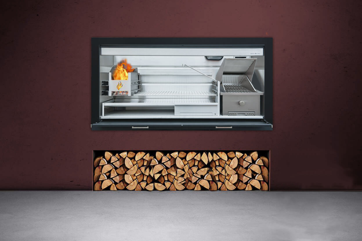 Stainless steel Gas and Wood combination braai by Beauty ...