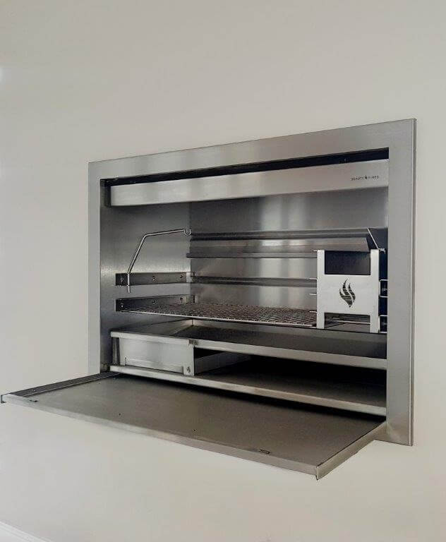 Stainless steel insert wood braai available in various sizes