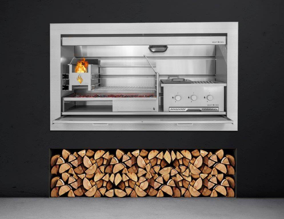 Stainless Steel Gas And Wood Combination Braai By Beauty