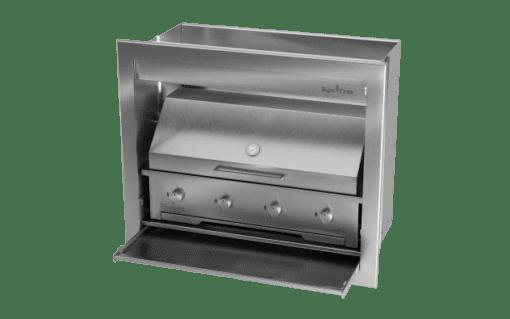 Gas Insert Braai Body 1000mm_GAS 970 & DOME CLOSED 1