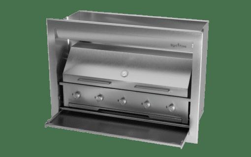 Gas Insert Braai Body 1200mm 304 SS_GAS 1170 & DOME CLOSED 1