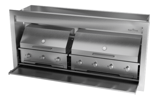 Gas Insert Braai Body 1800mm 304 SS_GAS 770 & 970 & DOME CLOSED 1