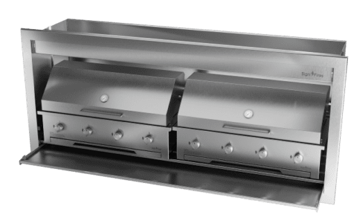 Gas Insert Braai Body 2000mm 304 SS_GAS 970 X 2 & DOME CLOSED 1