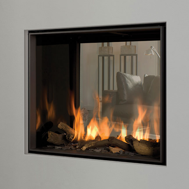 Derby Double Sided Gas Fireplace