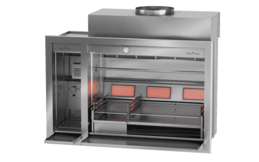Combo Spitbraai Charcoal with Gas back burners 1
