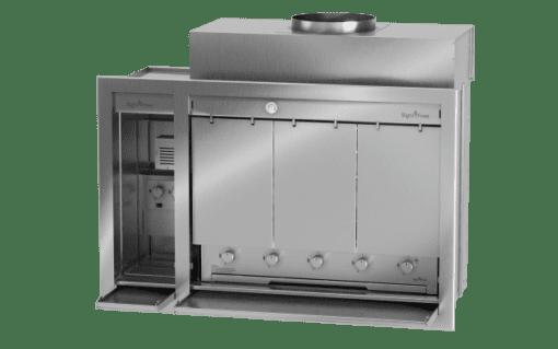 Spitbraai full gas with heat shields 1