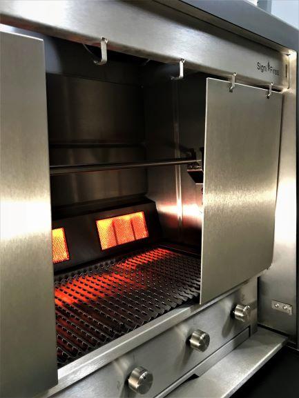 Stainless steel spit braai _ Full Gas option (9)