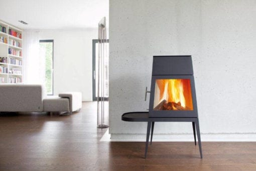 Shaker freestanding wood burning fireplace