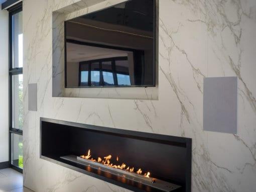 2000mm firebox with 1750 flueless gas fireplace