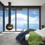 Halo Hanging Fireplace