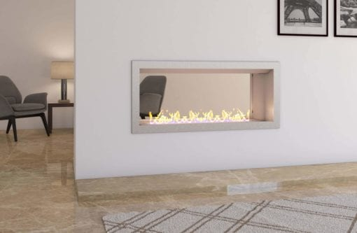 1100 Full Stainless double sided firebox with 800 slimline burner